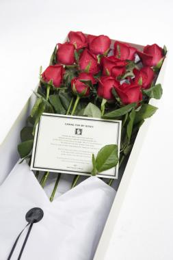 roses delivered in a luxury gift box